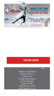 Coca Cola & Coors – Make a purchase & – Win The Promotion (prize valued at $19,058)