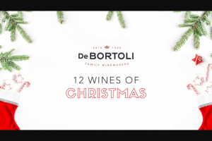 De Bertoli – Sign up for 12 Wines of Christmas & – Win One (1) Prize Pack (see Below). (prize valued at $2,952)