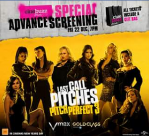 Event Cinemas Australia Fair – Win a Double Pass to Our Exclusive Chicks at The Flicks Screening of Pitch Perfect 3 on The 23rd of December