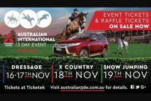 FiveAA – Win Tickets to The Mitsubishi Motors Australian International 3 Day Event (prize valued at $150,000)