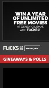 Flicks – Win a Dendy Cinemas Gold Card Yep