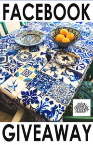 Gypsiana – Win a Spanish Tile Tablecloth (prize valued at $99)