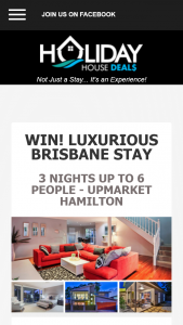 Holiday House stays – Competition (prize valued at $800)
