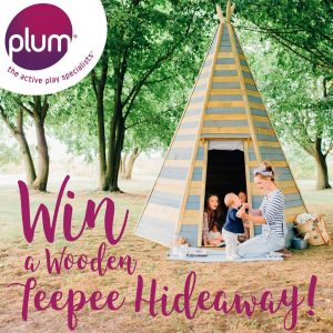 Plum Play – Win a Unique Garden Clubhouse Wooden Teepee OR 1 of 5 Plum Play Christmas Gift Cards valued at $100 each