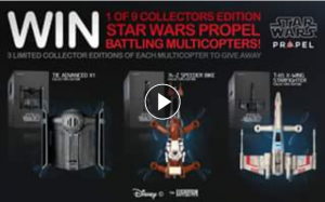 JB HiFi – Win 1 of 9 Amazing Star Wars Propel Battling Multicopters (prize valued at $1,800)