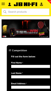 JB HiFi – Win 1 of 4 Framed Posters Signed By The Cast of It (prize valued at $800)