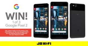 JB HiFi – Win 1 of 3 Google Pixel 2
