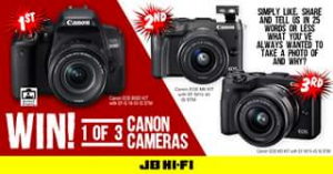 JB HiFi – Win 1 of 3 High-Performance Canon Cameras
