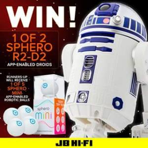 JB HiFi – Win 1 of 2 R2-d2 App-Enabled Droids
