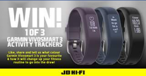 JB HiFi – Win One of Three Garmin Vivosmart Activity Tracker
