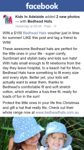 Kids In Adelaide – Win a $100 Bedhead Hats Voucher Just In Time for Summer