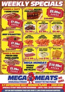 Mega Meats Brown Plains – Win a $50 Voucher