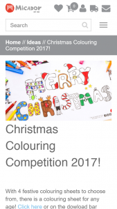 Micador Christmas Colouring Competition 2017 – Win The Major Prize (prize valued at $110)