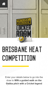 National Storage – Win The Ultimate Game Day Experience for You and 4 Mates at The Gabba on 20 December (prize valued at $3,000)