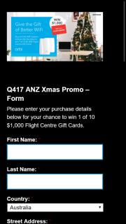 Netgear – Orbi – Win 1/10 $1000 Flight Centre Gift Cards (prize valued at $10,000)