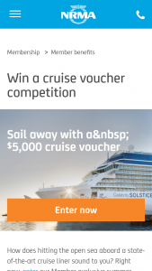 NMRA – Win a $5000 Cruise Voucher Commences at 1200am on 20 November 2017 and Entries (prize valued at $5,000)