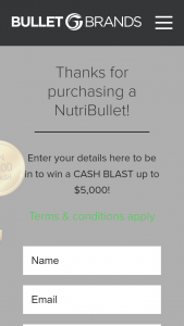 NutriBullet – Win a Cash Blast With Nutribullet