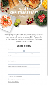 Ocean Chef – Win One (1) Woolworths Shopping Voucher to The Value of $500. (prize valued at $500)