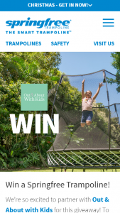 Out & About With Kids – Win a Springfree Trampoline (prize valued at $1,668)