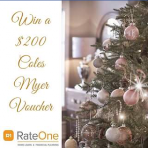 Rateone Home Loans & Financial Planning – Win a $200 Coles Myer Voucher