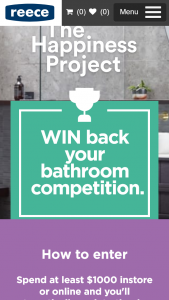 Reece Australia -Spend $1000 or more & – Win Back Your Bathroom Competition – terms and Conditions (prize valued at $10,000)