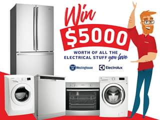 Retravision – Win $5000 Worth of All The Electrical Stuff You Love From Electrolux & Westinghouse Appliances Australia (prize valued at $5,000)