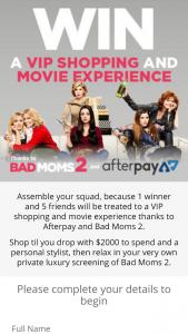 Roadshow Entertainment – Win a VIP Shopping Experience