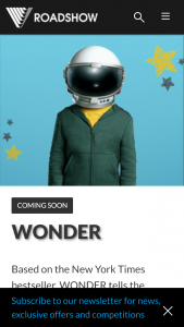 Roadshow – Win 1 of 20 Double Passes to See Wonder