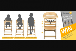 Safety 1st – Win 1 of 5 Safety 1st Timba Highchairs