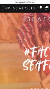 Seafolly – Win a Seafolly Instagram Shout-Out and $500 Seafolly Gift Card (prize valued at $15,000)