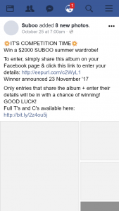 Suboo – Win a $2000 Suboo Summer Wardrobe (prize valued at $2,000)