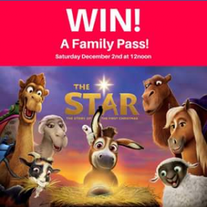 Sunnybank Plaza – Win a Family Pass (family of 5) to Our Excusive Christmas Movie Screening of 'the Star' From Sony Pictures