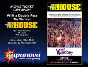 Supanova – Win a Double Pass to The Warriors on The Big Screen this Friday Night