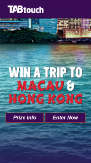 TABtouch Spring Carnival Promotion 2017 – Win a Trip to Macau & Hong Kong – Win 1 of 3 Trips for Two (prize valued at $30,000)