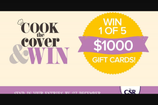 Taste – Win 1 of 5 $1000 Gift Cards (prize valued at $5,000)