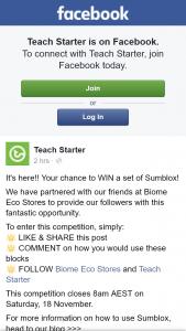 Teach Starter – Win a Set of Sumblox