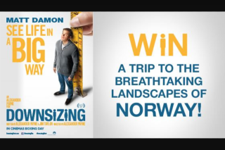 Channel Ten Downsizing  – Win a Trip to The Breathtaking Landscapes of Norway (prize valued at $15,000)