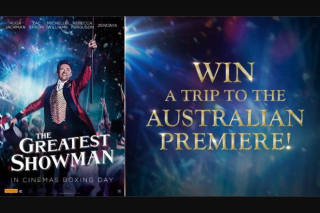 Channel Ten – Win a Trip to The Australian Premiere (prize valued at $3,250)