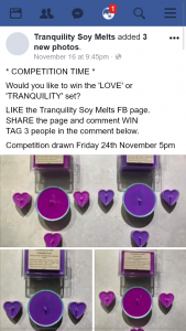 Tranquility Soy Melts FB – Win The 'love' Or 'tranquility' Set