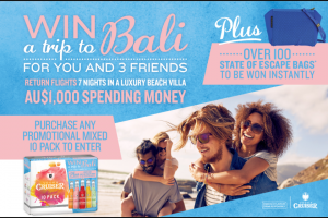 Vodka Cruiser – Win a Trip to Bali for Four People Promotion (prize valued at $289)