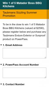 Win a Matador Boss Bbq Kitchen Valued at $2590. (prize valued at $2,590)