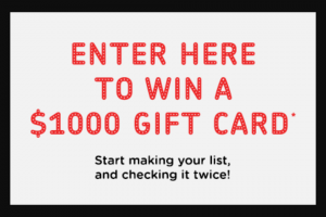 Win a $1000 Seed Heritage Gift Card (prize valued at $1,000)
