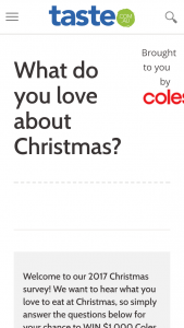 Win $1000 Coles Shopping Vouchers (prize valued at $1,000)