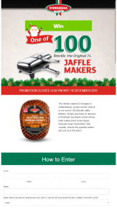 Woolworths D'Orsogna – Win One of 100 Breville Jaffle Makers (prize valued at $99)