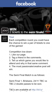 Youi – Win a Pair of Tickets to One of The Games