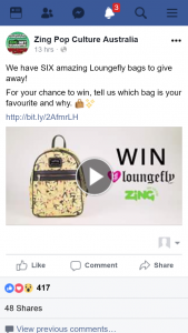 Zing Pop Culture – Win One of Six Loungefly Bags