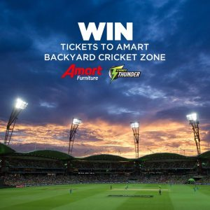 Amart Furniture – Backyard Cricket Ticket – Win 6 tickets to the nominated Sydney Thunder Big Bash League Game valued at $1,500 (5 prizes to be won).jpg
