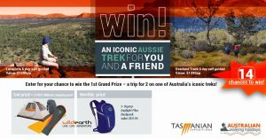 Australian Walking Holidays – Win a major prize of an iconic Australian Trek for 2; a minor prize OR 1 of 12 Monthly prizes