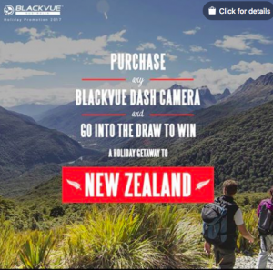 BlackVue Australia – Win a grand prize valued at $10,000 OR 1 of 40 runner-up prizes