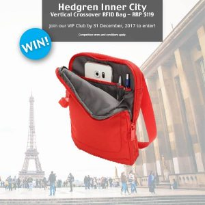Global Travel Products – Win a Small RFID Bag Crossover Bag from Hedgren